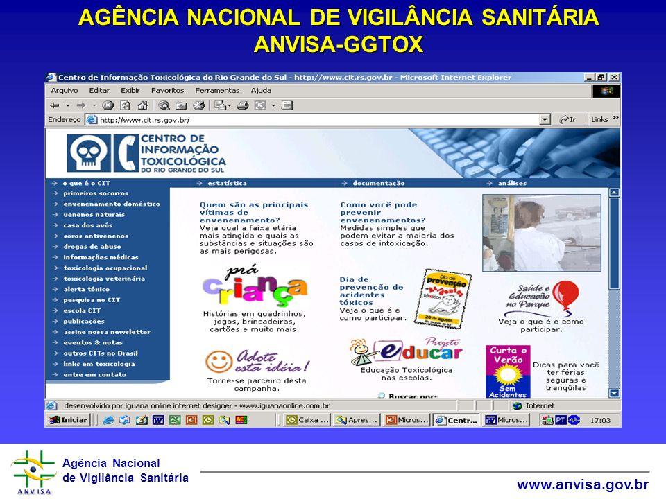 AGÊNCIA NACIONAL DE VIGILÂNCIA SANITÁRIA ANVISA-GGTOX
