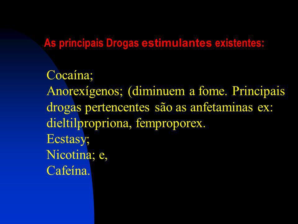 As principais Drogas estimulantes existentes: