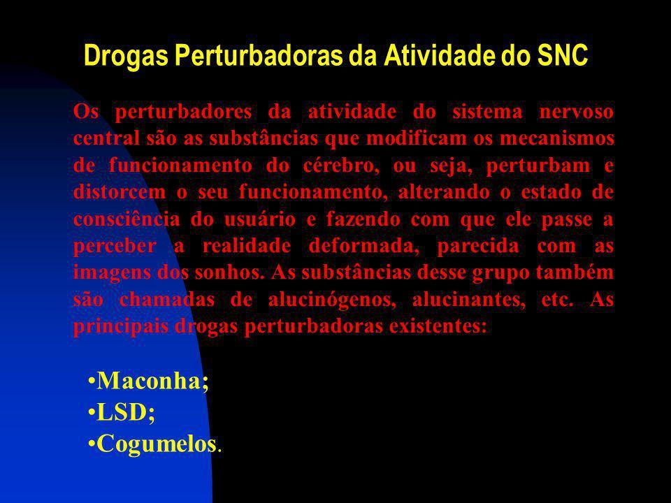 Drogas Perturbadoras da Atividade do SNC