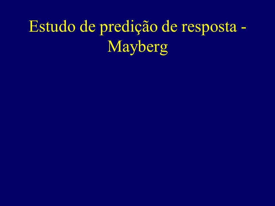 Estudo de predição de resposta - Mayberg