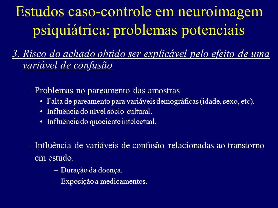 Estudos caso-controle em neuroimagem psiquiátrica: problemas potenciais