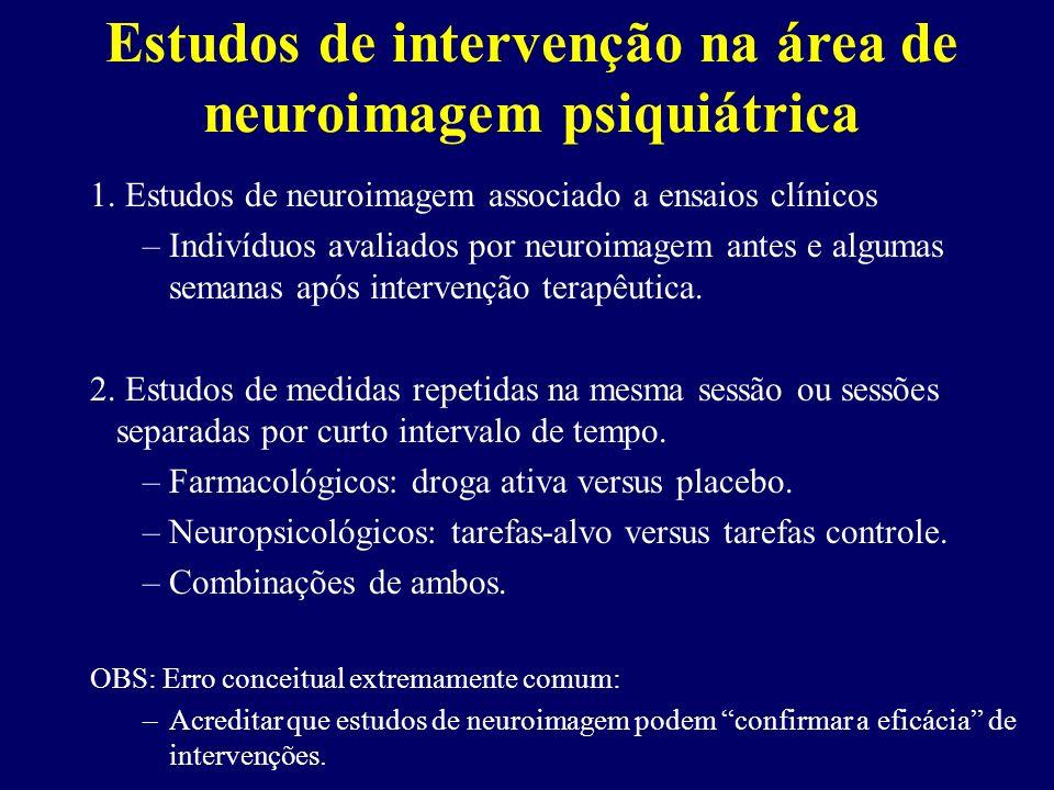 Estudos de intervenção na área de neuroimagem psiquiátrica