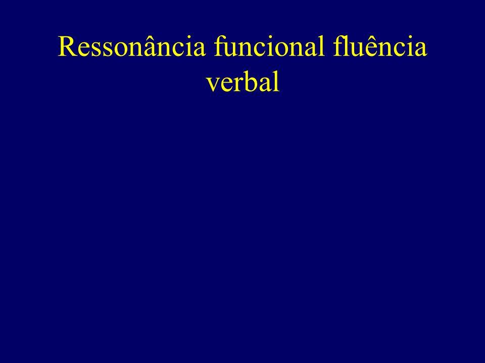 Ressonância funcional fluência verbal