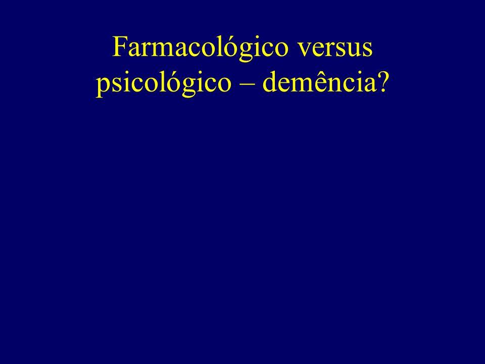 Farmacológico versus psicológico – demência