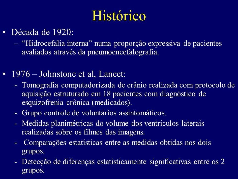 Histórico Década de 1920: 1976 – Johnstone et al, Lancet: