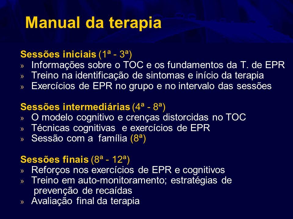 Manual da terapia Sessões iniciais (1ª - 3ª)