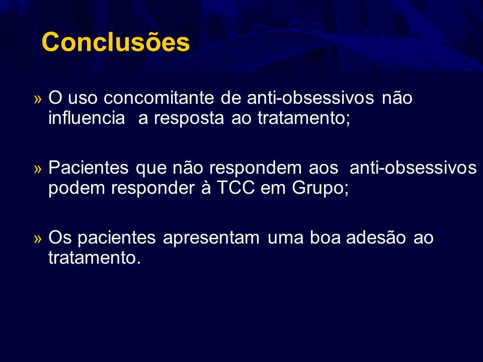 Conclusões O uso concomitante de anti-obsessivos não influencia a resposta ao tratamento;