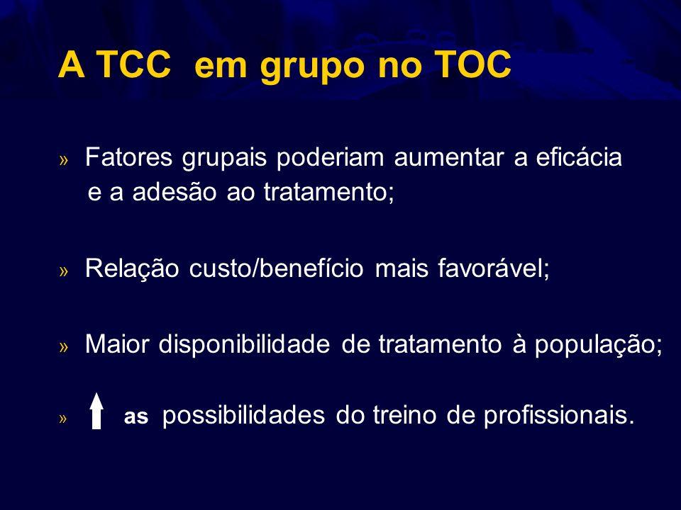 A TCC em grupo no TOC Fatores grupais poderiam aumentar a eficácia