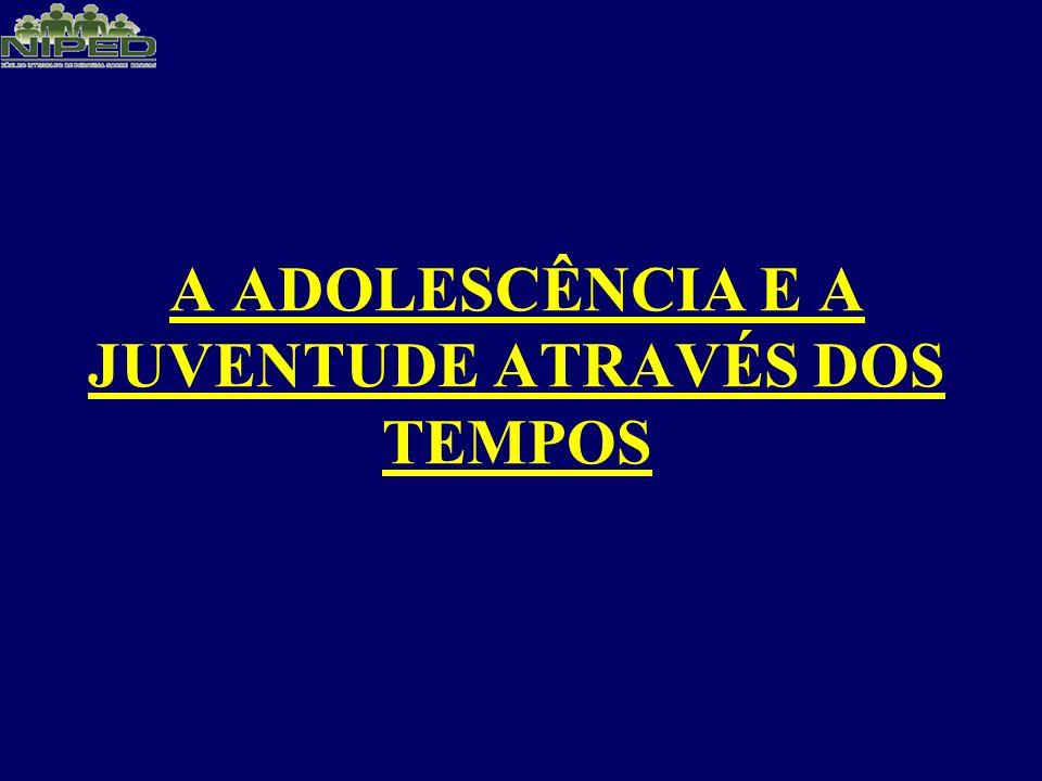 A ADOLESCÊNCIA E A JUVENTUDE ATRAVÉS DOS TEMPOS