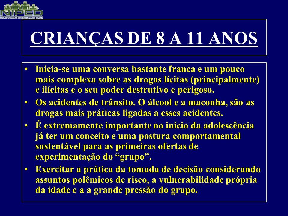 CRIANÇAS DE 8 A 11 ANOS