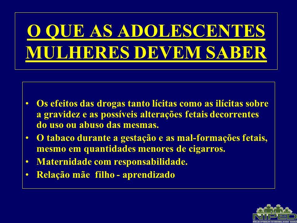 O QUE AS ADOLESCENTES MULHERES DEVEM SABER