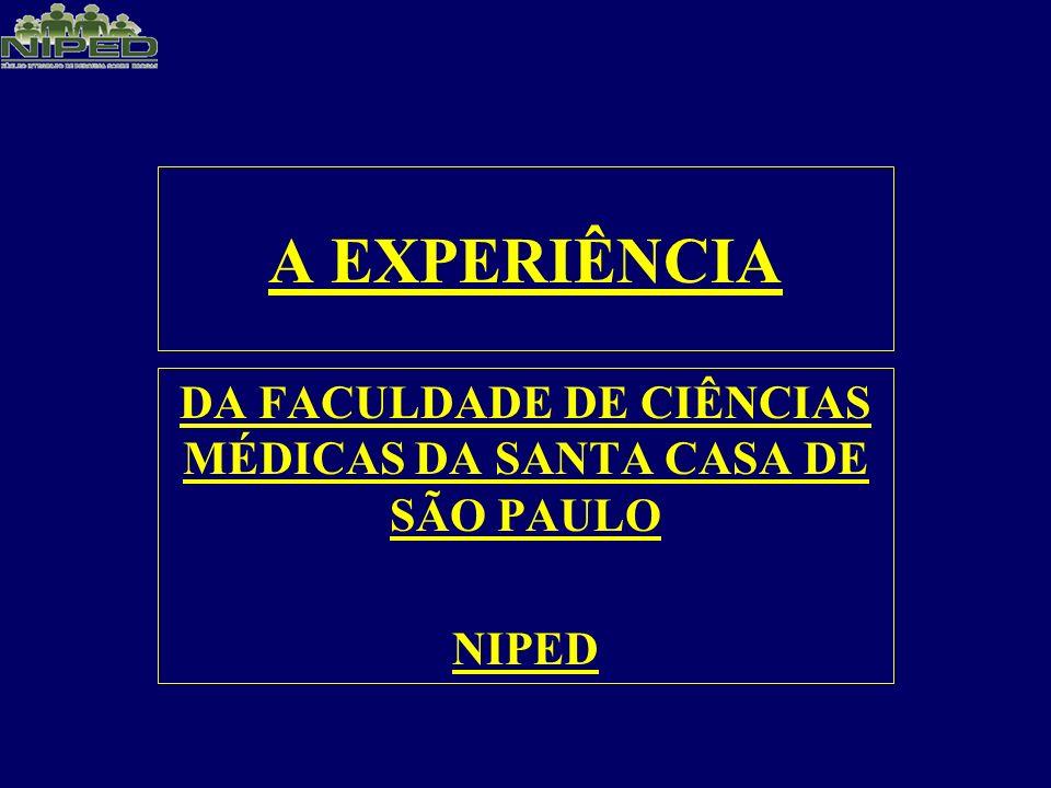 DA FACULDADE DE CIÊNCIAS MÉDICAS DA SANTA CASA DE SÃO PAULO NIPED