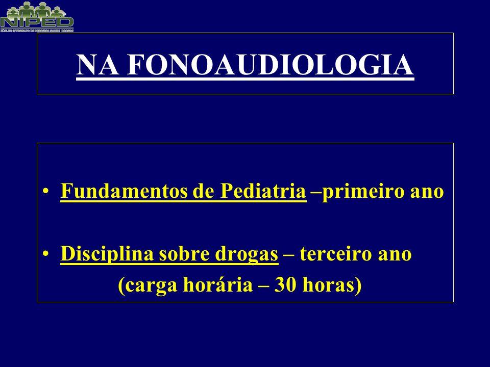 NA FONOAUDIOLOGIA Fundamentos de Pediatria –primeiro ano