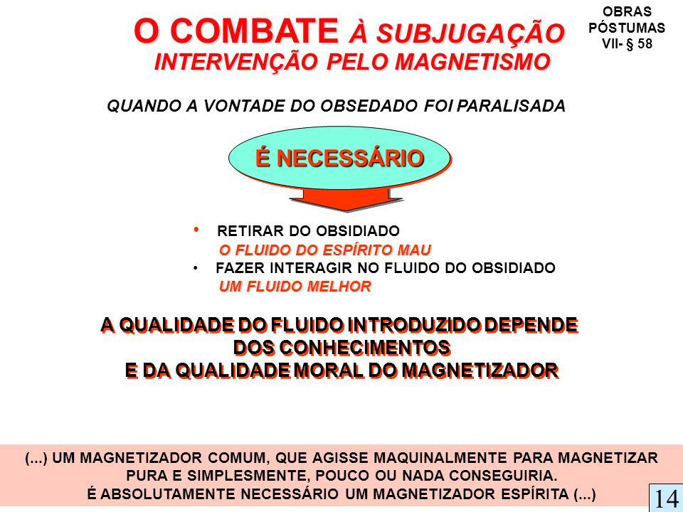 O COMBATE À SUBJUGAÇÃO INTERVENÇÃO PELO MAGNETISMO 14 É NECESSÁRIO
