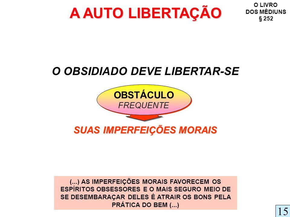 O OBSIDIADO DEVE LIBERTAR-SE SUAS IMPERFEIÇÕES MORAIS