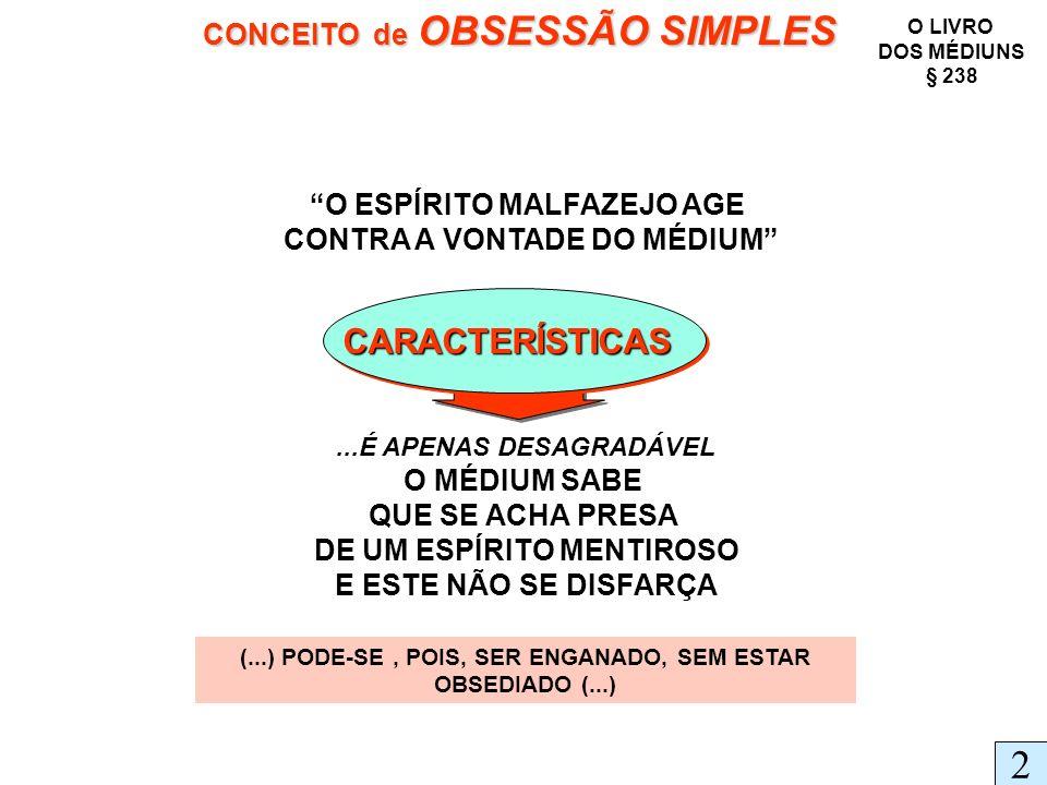 2 CARACTERÍSTICAS CONCEITO de OBSESSÃO SIMPLES