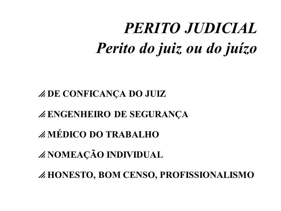 Perito do juiz ou do juízo
