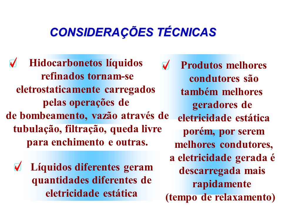 CONSIDERAÇÕES TÉCNICAS