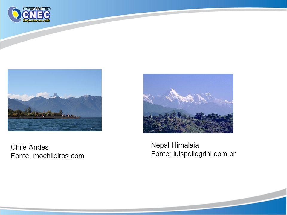 Nepal Himalaia Fonte: luispellegrini.com.br Chile Andes Fonte: mochileiros.com