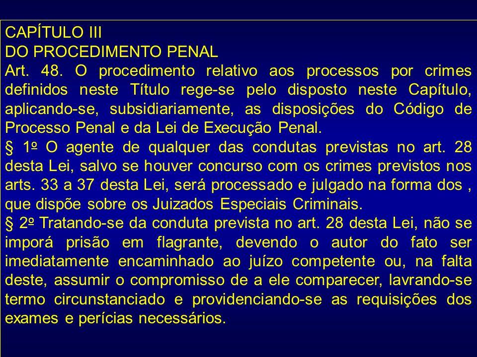 CAPÍTULO III DO PROCEDIMENTO PENAL.