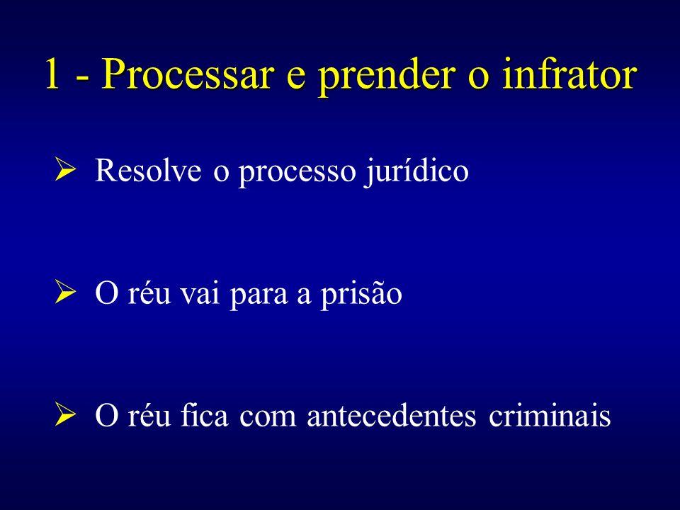 1 - Processar e prender o infrator