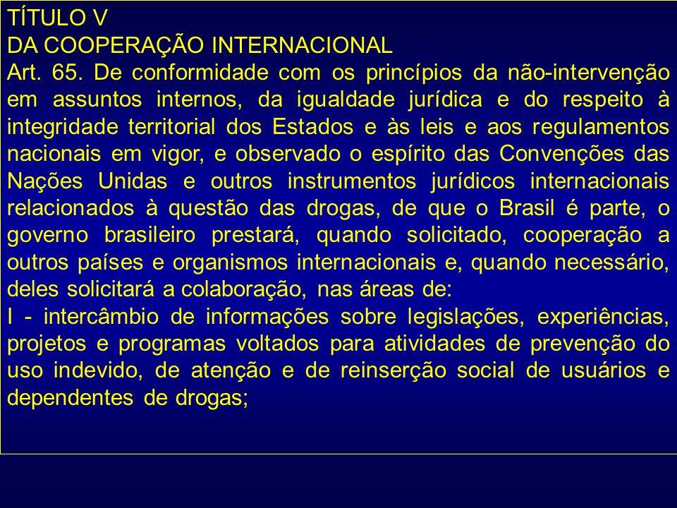 TÍTULO V DA COOPERAÇÃO INTERNACIONAL.