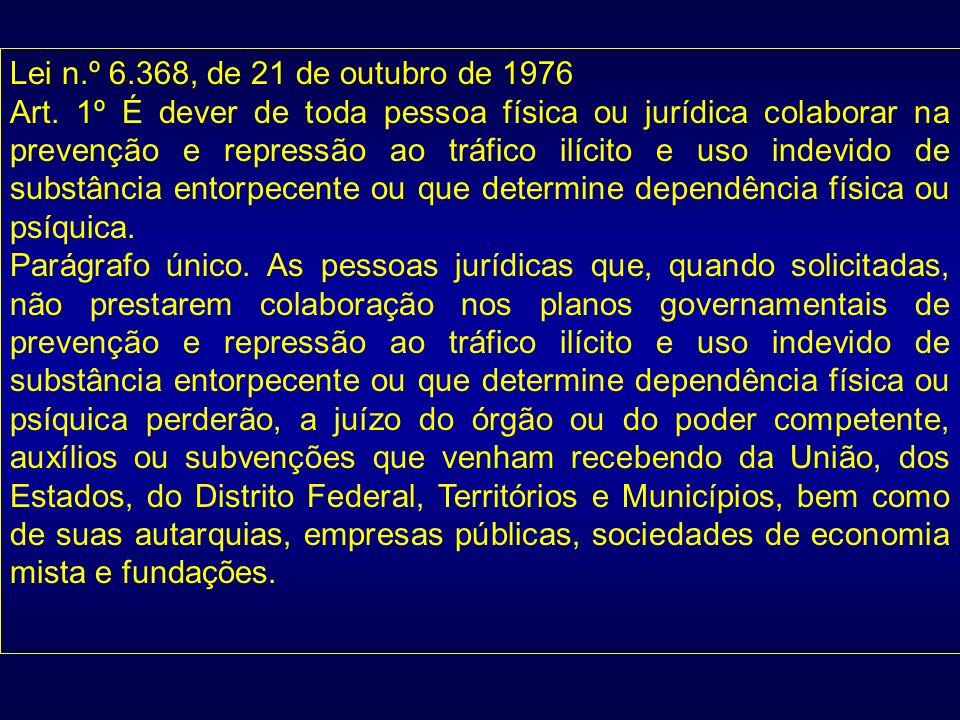 Lei n.º 6.368, de 21 de outubro de 1976