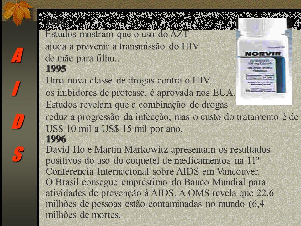 A I D S 1994 Estudos mostram que o uso do AZT