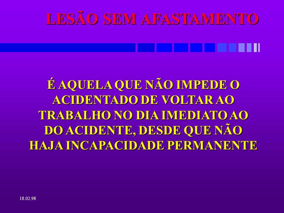 LESÃO SEM AFASTAMENTO
