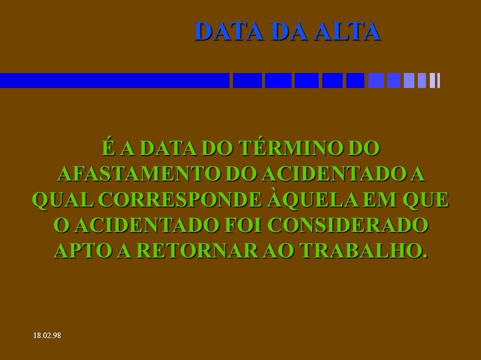 DATA DA ALTA