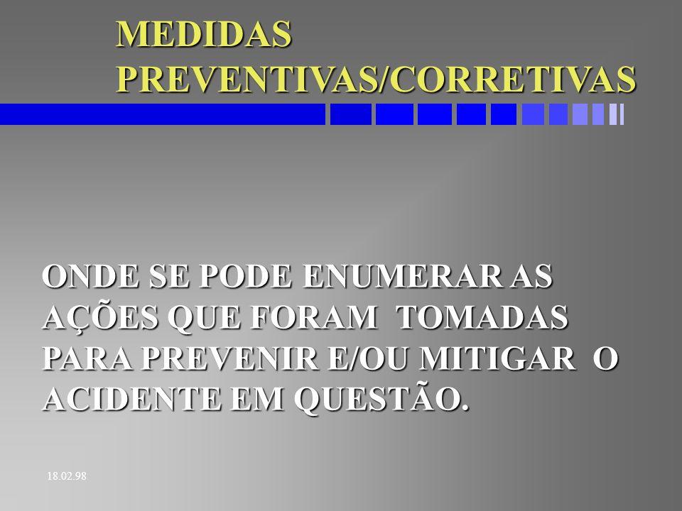 MEDIDAS PREVENTIVAS/CORRETIVAS