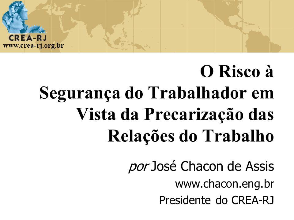 por José Chacon de Assis www.chacon.eng.br Presidente do CREA-RJ