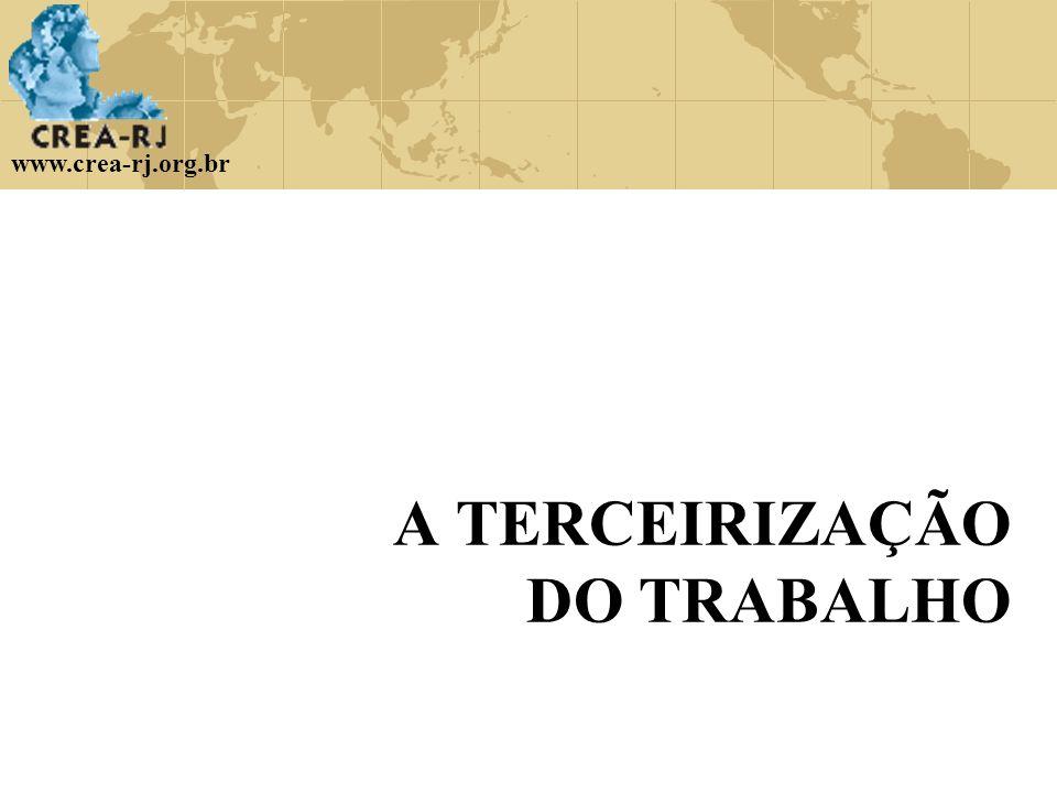A TERCEIRIZAÇÃO DO TRABALHO