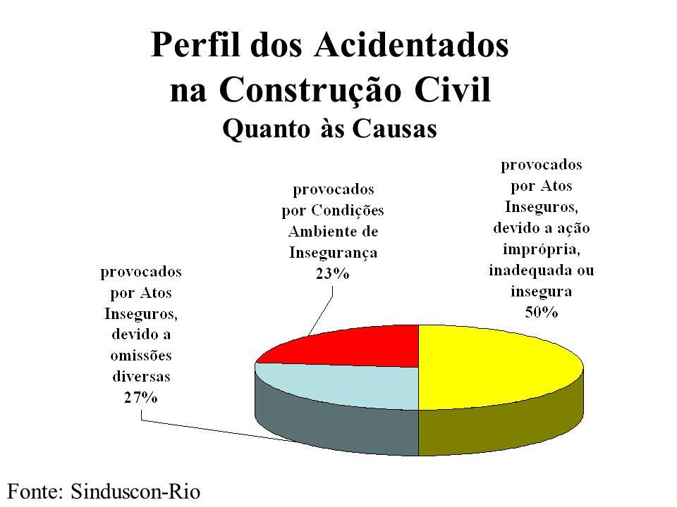 Perfil dos Acidentados na Construção Civil Quanto às Causas