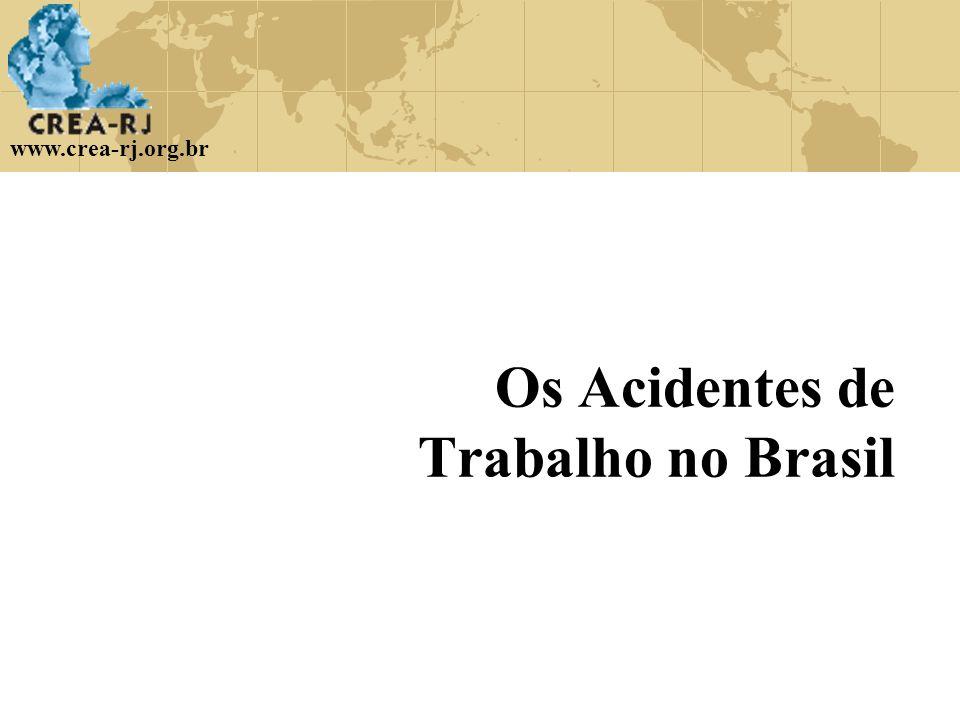 Os Acidentes de Trabalho no Brasil