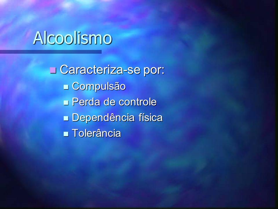 Alcoolismo Caracteriza-se por: Compulsão Perda de controle