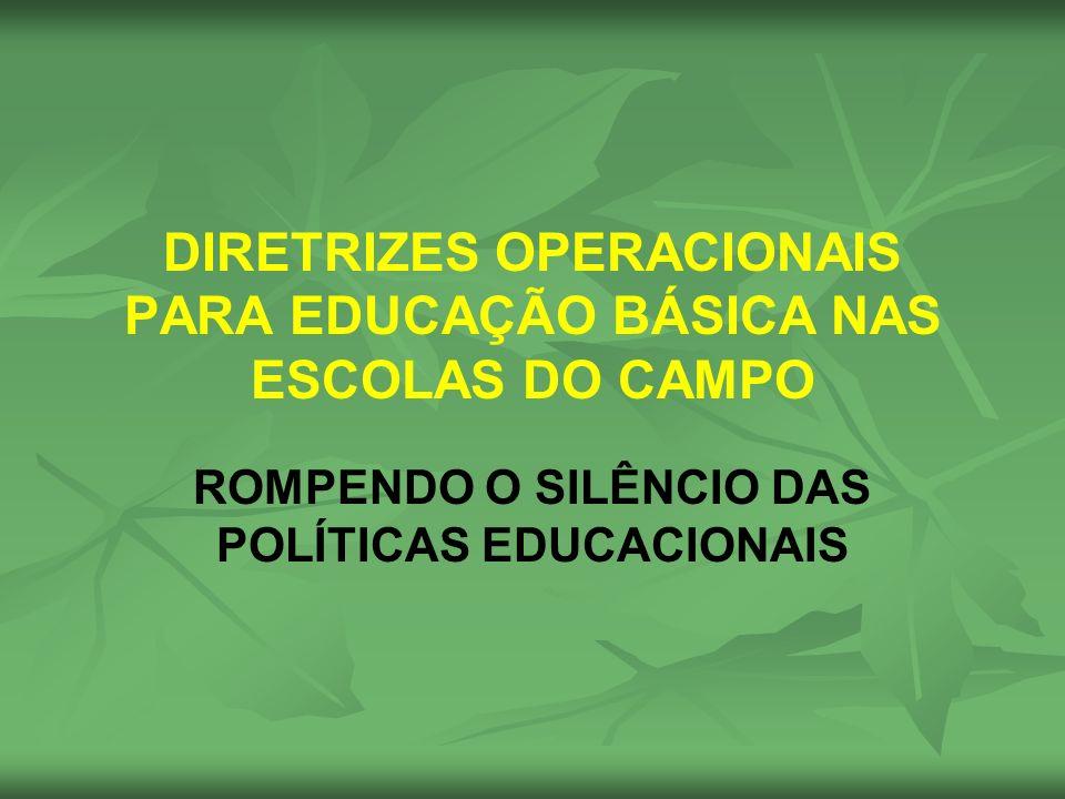 DIRETRIZES OPERACIONAIS PARA EDUCAÇÃO BÁSICA NAS ESCOLAS DO CAMPO