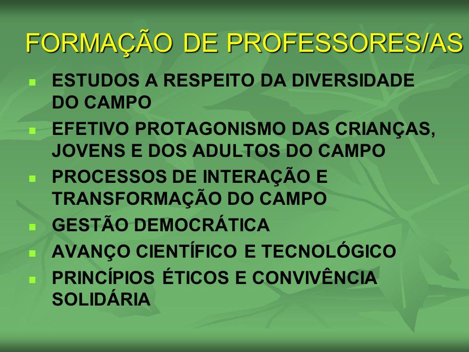 FORMAÇÃO DE PROFESSORES/AS