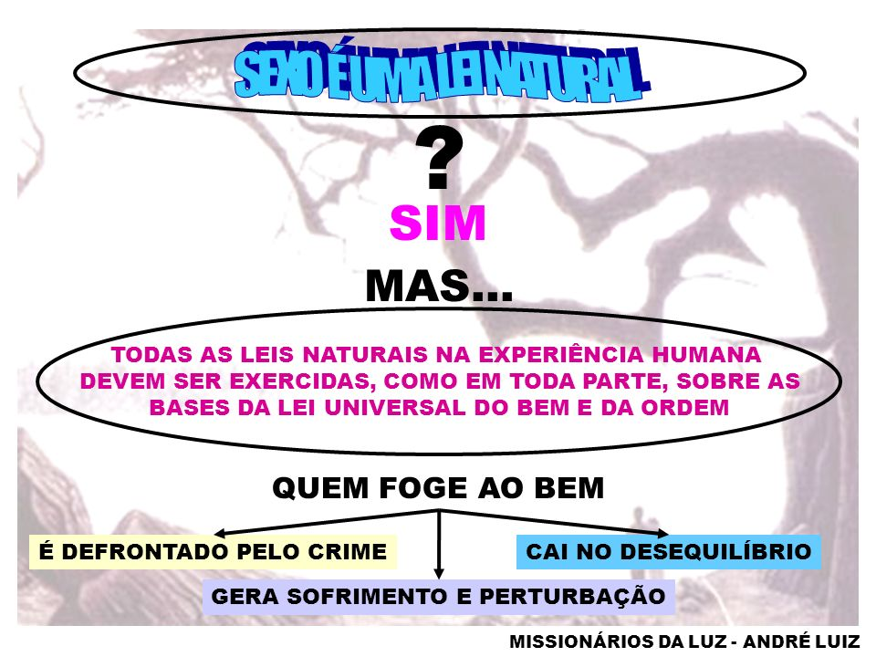 SIM SEXO É UMA LEI NATURAL MAS... QUEM FOGE AO BEM