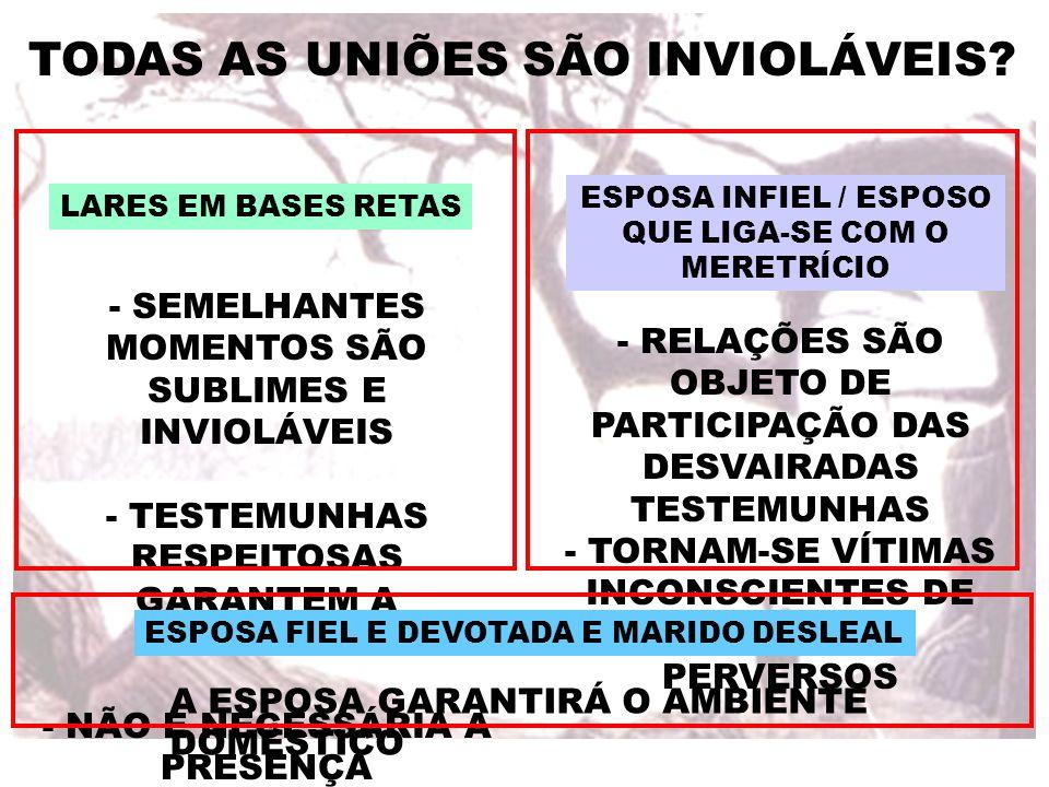 TODAS AS UNIÕES SÃO INVIOLÁVEIS