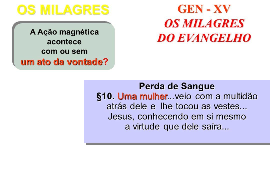 OS MILAGRES GEN - XV OS MILAGRES DO EVANGELHO Perda de Sangue