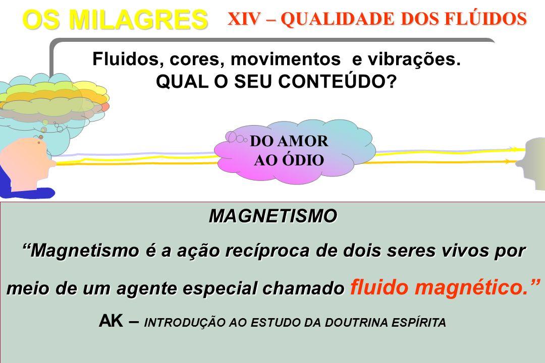 OS MILAGRES XIV – QUALIDADE DOS FLÚIDOS