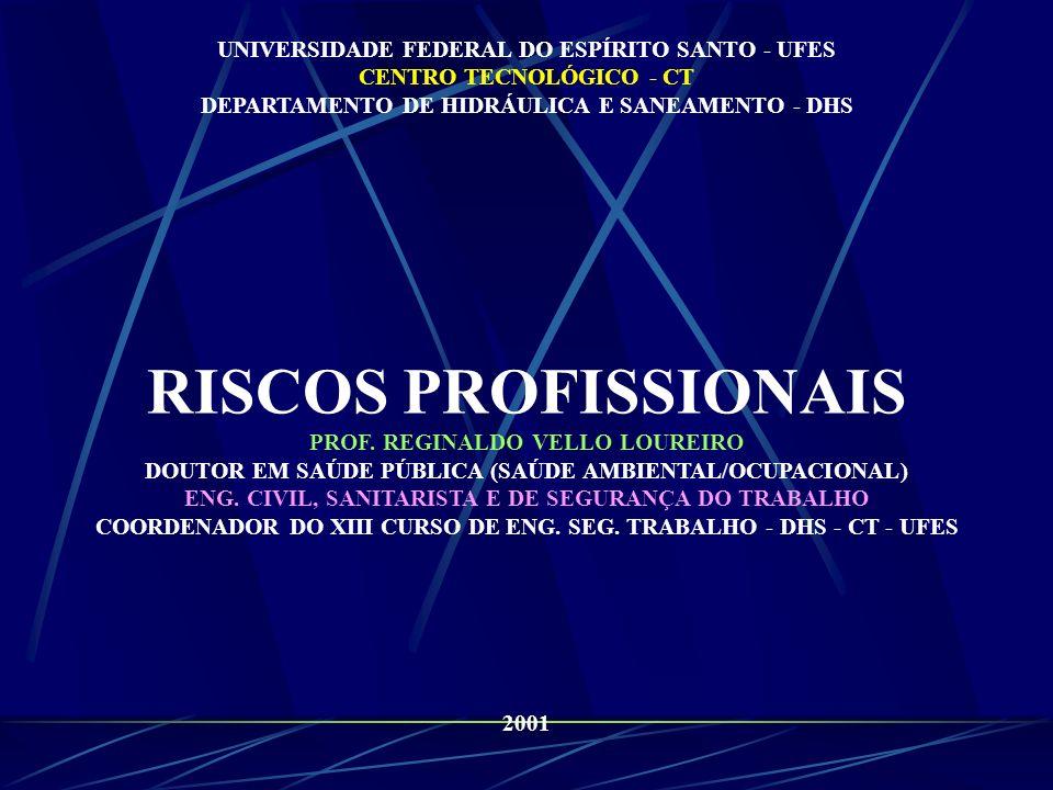RISCOS PROFISSIONAIS UNIVERSIDADE FEDERAL DO ESPÍRITO SANTO - UFES