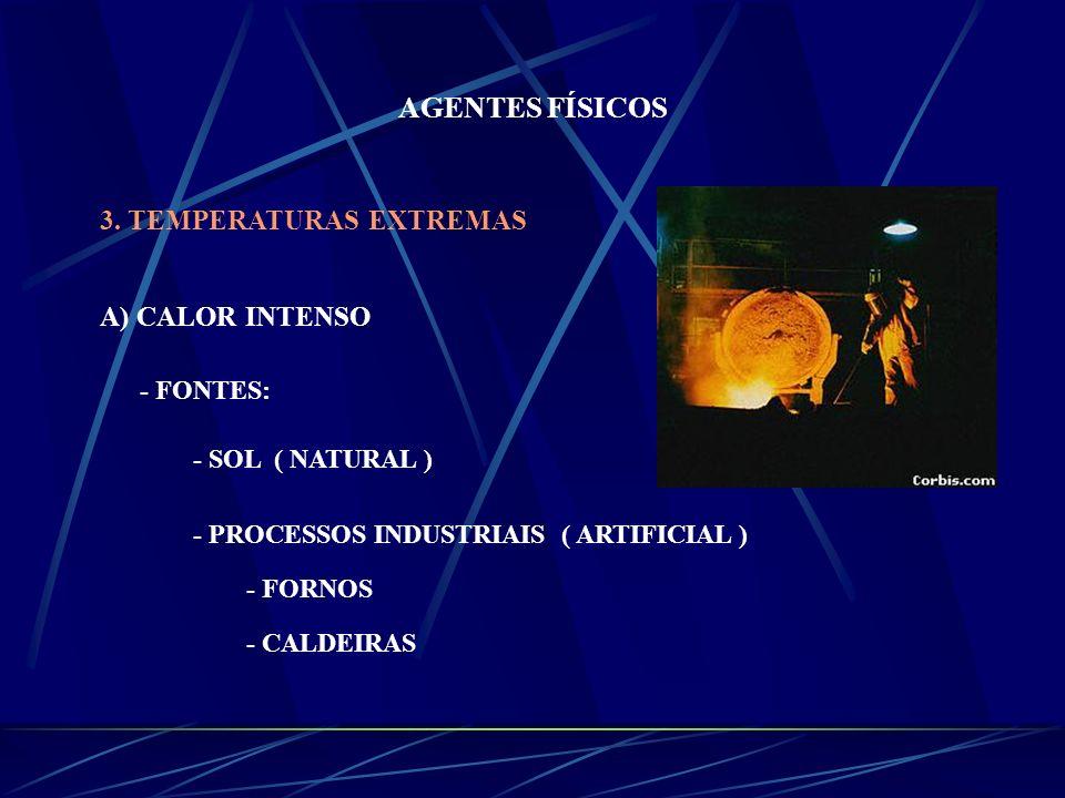 AGENTES FÍSICOS 3. TEMPERATURAS EXTREMAS A) CALOR INTENSO - FONTES: