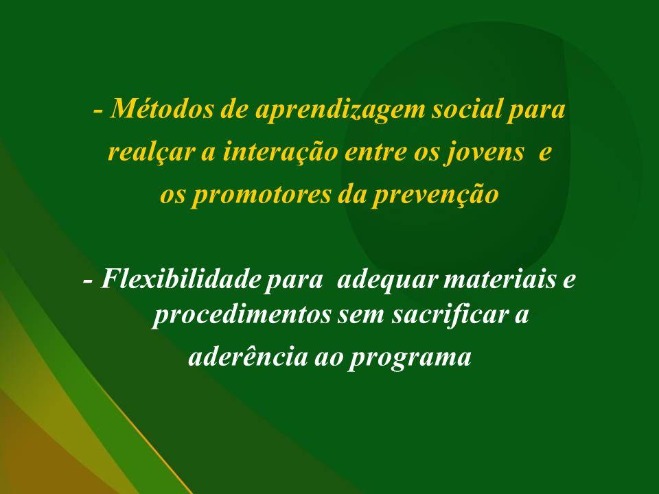 - Métodos de aprendizagem social para