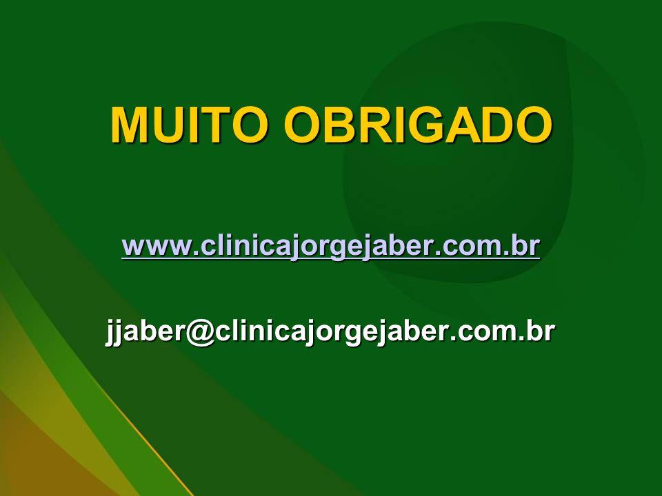 MUITO OBRIGADO www.clinicajorgejaber.com.br