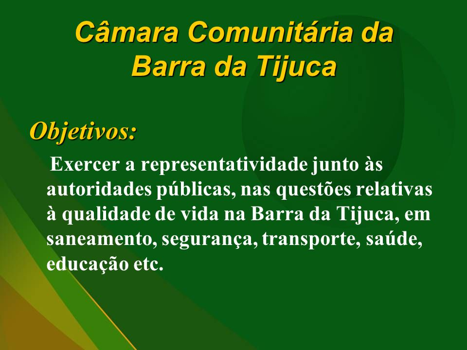Câmara Comunitária da Barra da Tijuca
