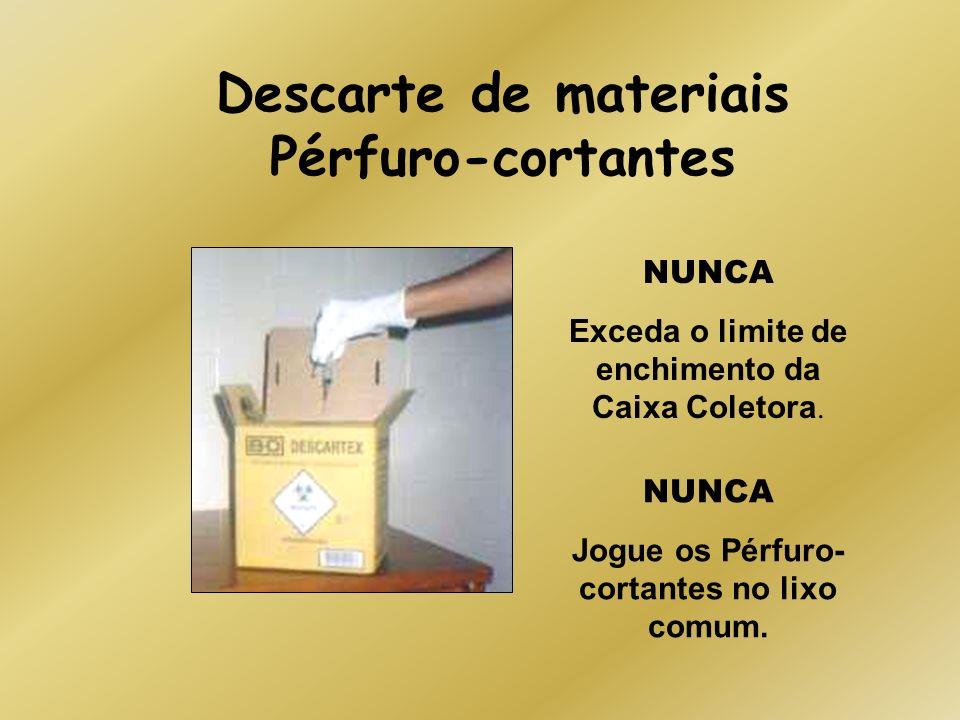 Descarte de materiais Pérfuro-cortantes