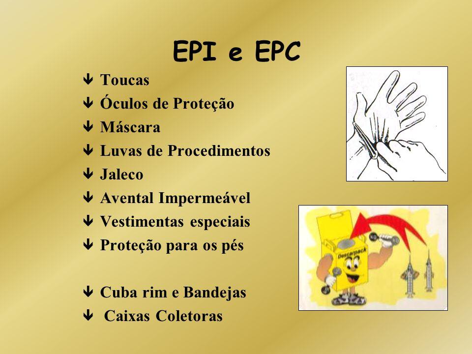 EPI e EPC Toucas Óculos de Proteção Máscara Luvas de Procedimentos