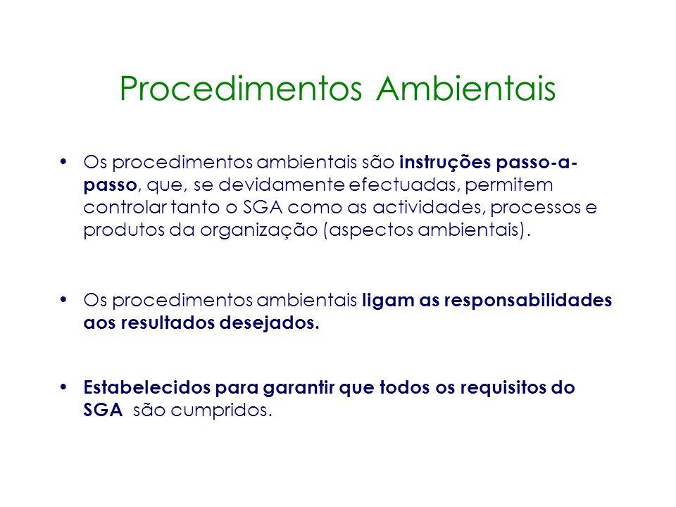 Procedimentos Ambientais